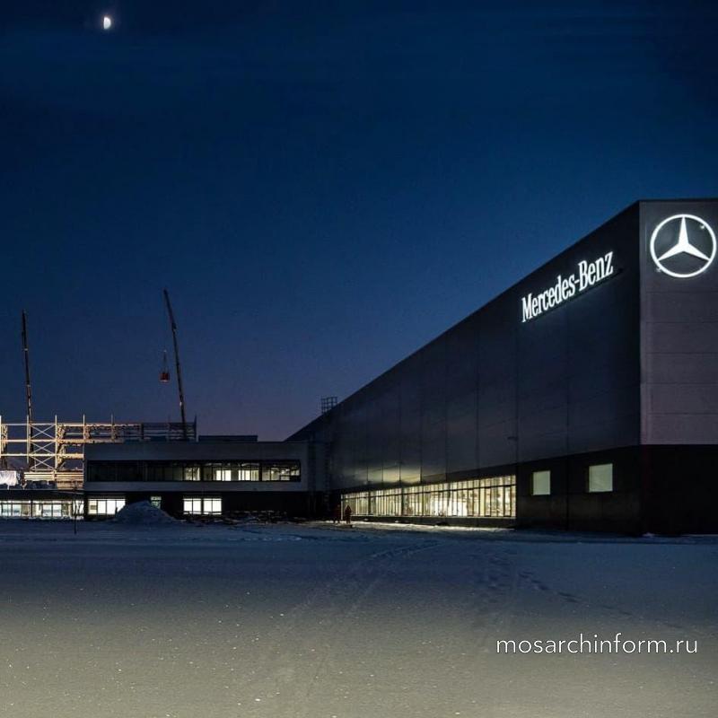 Уникальные конструктивные элементы для здания нового завода Mercedes-Benz в Солнечногорском районе Московской области