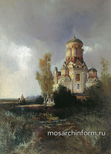 Вид церкви села Дьякова в Коломенском близ Москвы :: Николай Егорович Маковский (1842-1886)