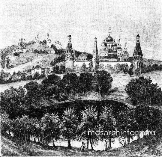 Начало XIX века Лизин пруд в Москве (вид с юга)