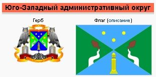 Флаг и герб  ЮЗАО