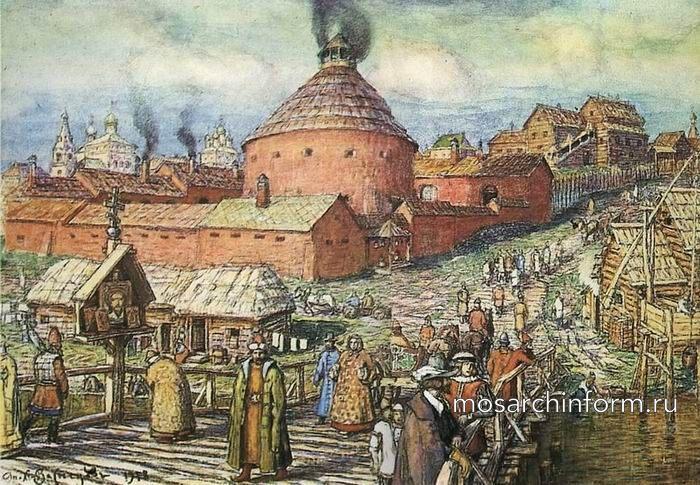 Пушечно-литейный двор на реке Неглинной в XVII век - архитектура Москвы 17 века