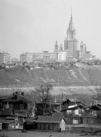 Фото пользователей сайта - Вид на Каменную Плотину, Гладышево, Мосфильмовскую улицу и МГУ. 1961 - 1963гг.